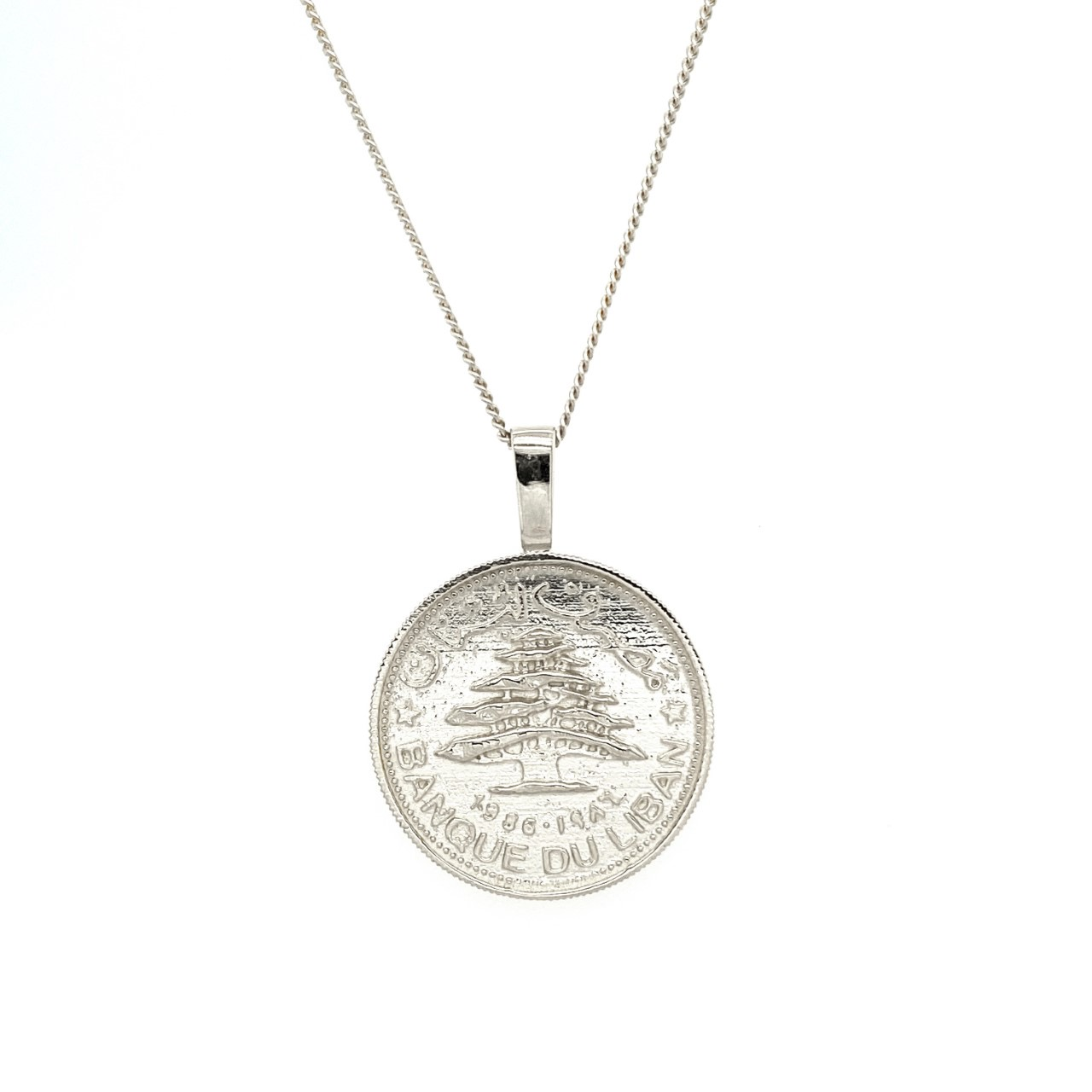 Auction For Silver Lebanese Lira on Silver Chain 2nd